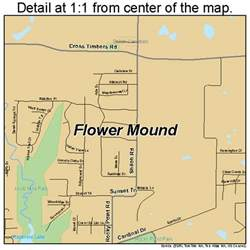 where is flower mound on the map flower mound map 4826232