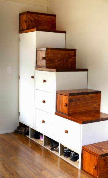 stairs with storage storage stairs how to design them for your tiny house