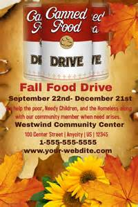Fall food drive template postermywall