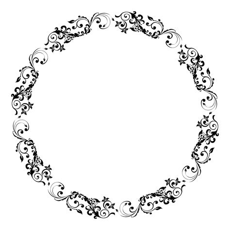 circular pattern thesaurus download floral frame picture hq png image freepngimg