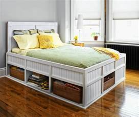 White Platform Bed With Storage And Headboard Fascinating Bedroom Furniture Introducing Low Profile
