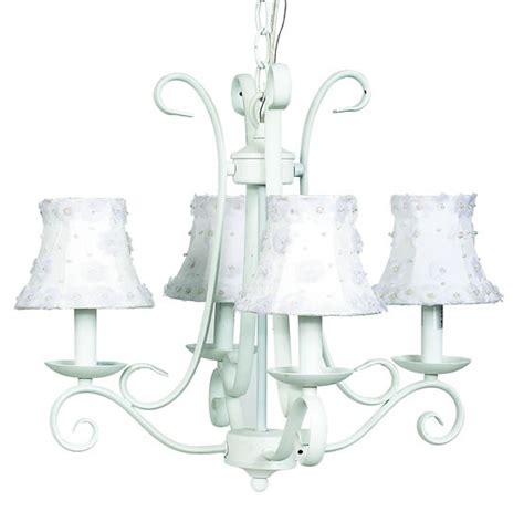 White Chandelier With Shades White Harp Chandelier Optional White Shades