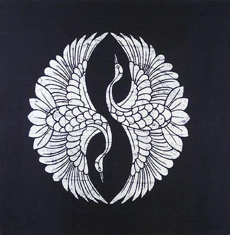 tattoo pattern batik japanese indigo two cranes batik panel mandalas patterns