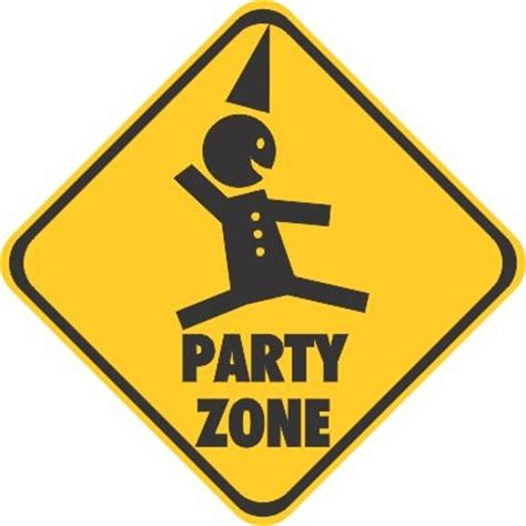 Huge Wall Murals party zone decal sticker bumper stickers car stickers