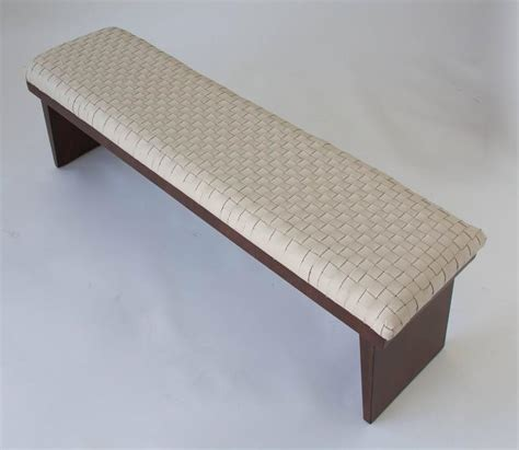 walnut bench seat walnut bench with woven leather seat for sale at 1stdibs