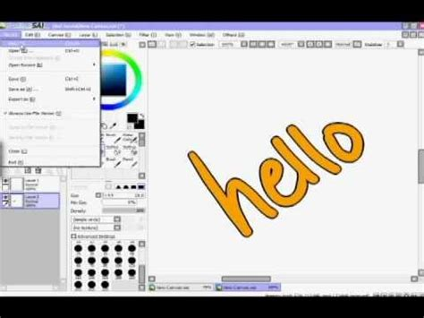 paint tool sai insert text sai paint tool the increment selection trick re do