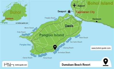 dumaluan resort map dumaluan resort on panglao island bohol guide