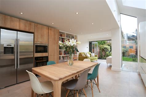 Dining Room House Extension Before After Kitchen Extension In Balham