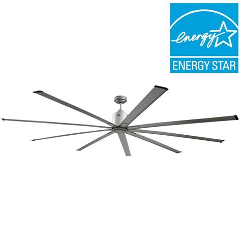 large indoor ceiling fans big air 96 in indoor metallic satin nickel industrial