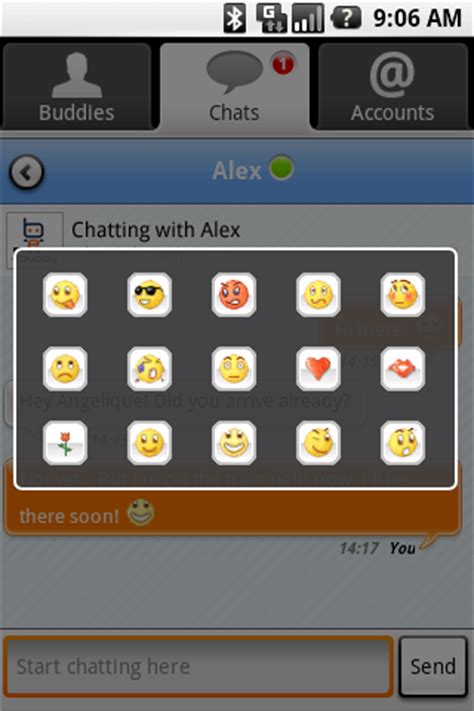 emoticons for android ebuddy launches instant messaging application for android androidguys