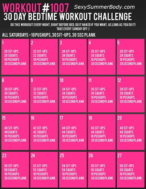 30 day workout plan for women at home 25 best ideas about bedtime workout on pinterest quick