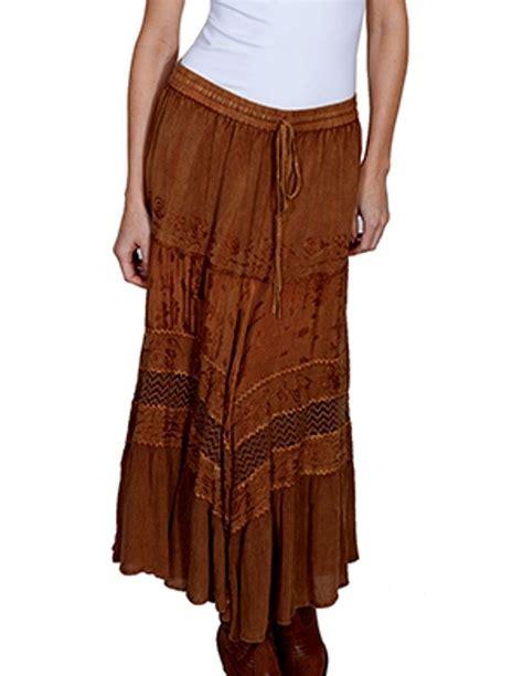 scully western skirt womens honey creek length