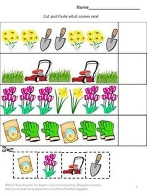 flower pattern worksheet fall math cut and paste activities kindergarten math