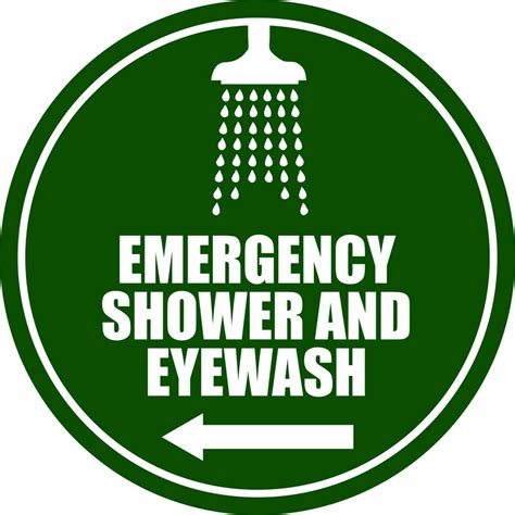L Emergency emergency shower eyewash l arrow phs safety