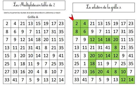jeu table de multiplication ce1 id 233 es inspir 233 es pour la