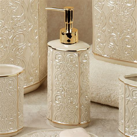Damask bathroom accessories damask ivory porcelain bath accessories furla damask ceramic bath