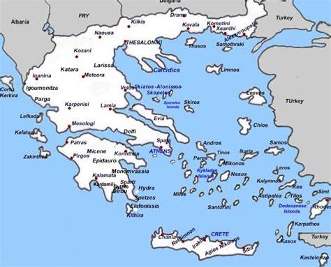 vacanze grecia grecia mappa turistica