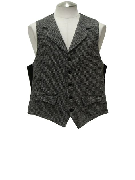 black and white pattern vest vintage 70 s suit late 70s or early 80s no label mens