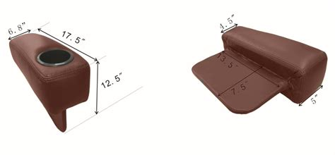 Portable Cup Holder For Sofa by Ht Design Portable Armrest For Loveseat Configs Brown Leather