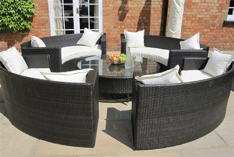 circular outdoor sofas oakita rattan garden furniture circular sofa set