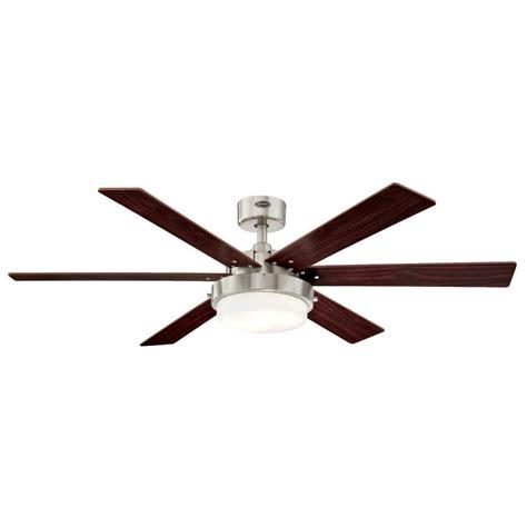 brushed nickel ceiling fan westinghouse arcadia 46 in brushed nickel indoor ceiling