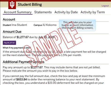 Iupui Bursar Office by View Pay Bursar Bill Iu Bursar Pay All Iu Cuses