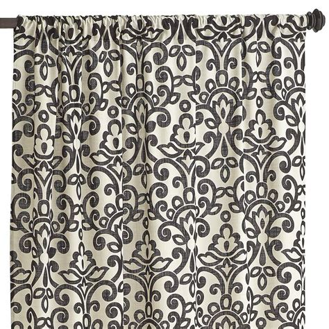 Black Damask Curtains Sofie Damask Curtain Black 84 Quot Curtains For Living Room Home Damask Curtains