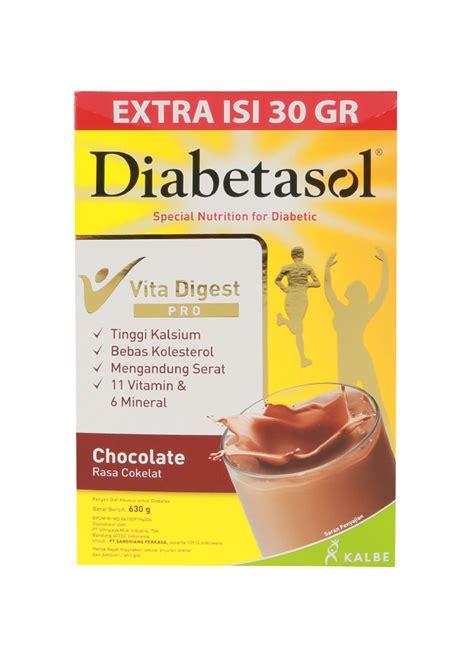 Diabetasol Coklat 600g 1 diabetasol formula diabetes cokelat box 600 630g klikindomaret