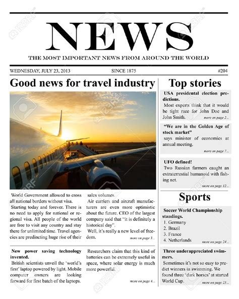 news paper templates 9 newspaper templates word excel pdf formats