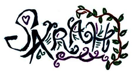 tattoo name sara sarah tattoo by sugarrox on deviantart