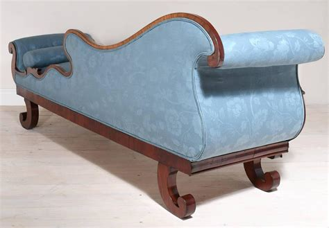 fainting sofa for sale 19th century empire recamier or fainting couch in mahogany