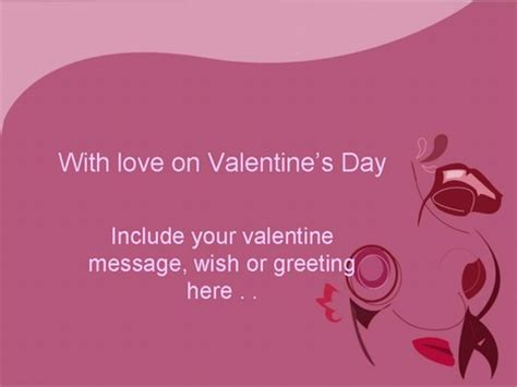 Valentine Violet Template Powerpoint Templates Free Violet