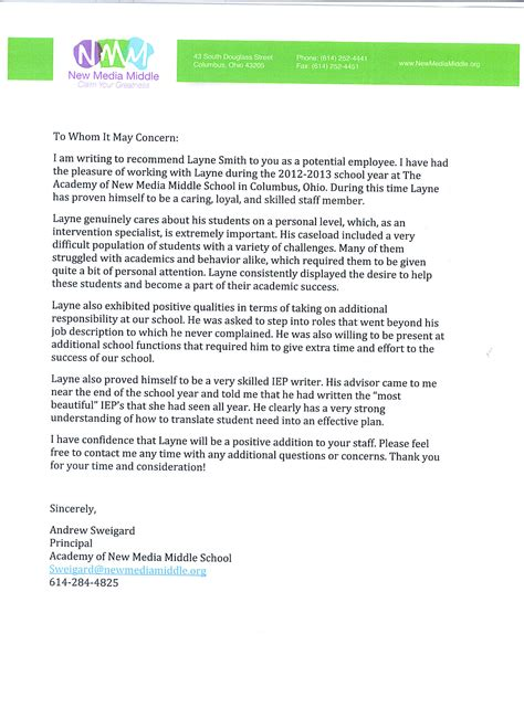 College Letter Of Recommendation From Mentor best photos of sle student recommendation