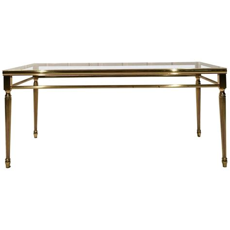 Antique Coffee Table In Brass With Glass Top For Sale At Antique Coffee Tables With Glass Top