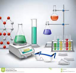 Science lab background stock vector image 49731967