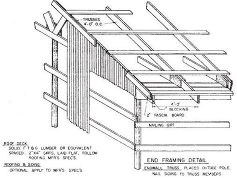 Free Pole Shed Plans by Pole Barn Plans Extension Nurs