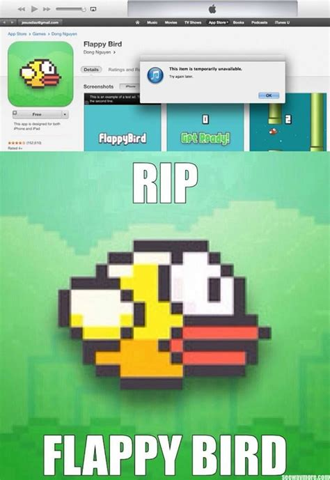 Flappy Bird Meme - the memes factory flappy bird rip the memes factory