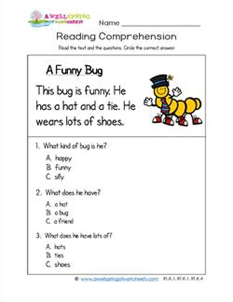 free reading comprehension activities great for pre k grade level worksheets a wellspring of worksheets