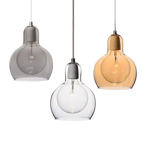 glass pendant lights for kitchen for above the gourmet island love the simplicity of them