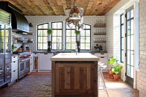Reclaimed Wood Kitchen Island european cottage kitchen contemporary kitchen