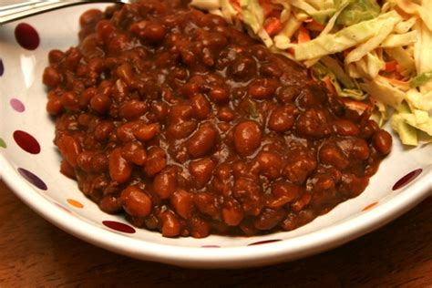 beefy crock pot baked beans meet penny