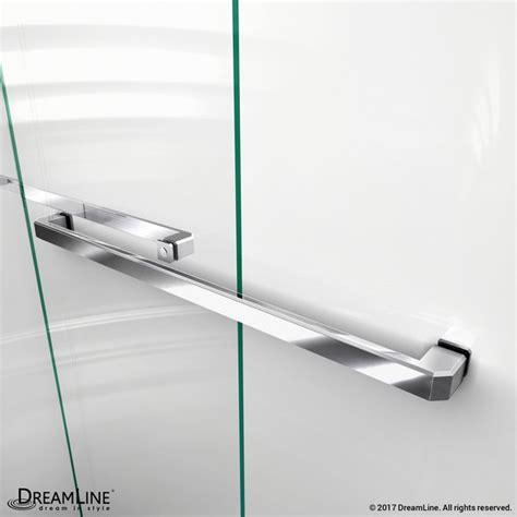 Towel Bars For Shower Doors Dreamline Shdr 1654760 Encore 50 54 X 76 Inch Bypass Sliding Shower Door Shdr 1654760 01
