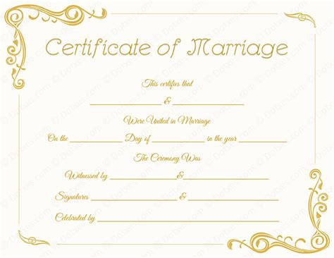 wedding certificates templates standard marriage certificate template dotxes