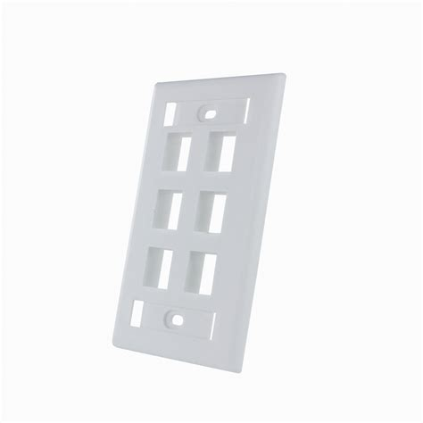 Faceplate Rj45 4 By Subway 6 port keystone rj45 cat network faceplate wall plate