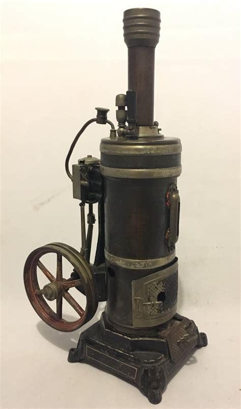 antique bing  steam engine vertical boiler   nutshell