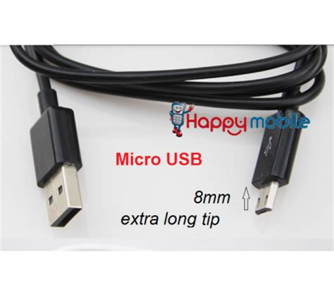 Tip Mobil Usb special 8mm tip micro usb cable extended