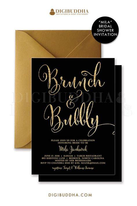 free printable bridal shower brunch invitations brunch bubbly invitation bridal shower invite black and