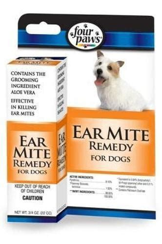 Home Remedies For Ear Mites In Dogs by Four Paws Ear Mite Remedy For Dogs 1 Oz Gotpetsupplies