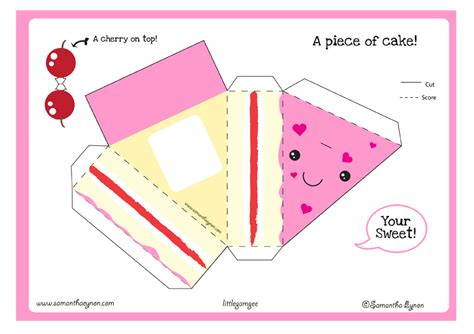 Printable Paper Craft - hsgeometryadventure paper craft s cake