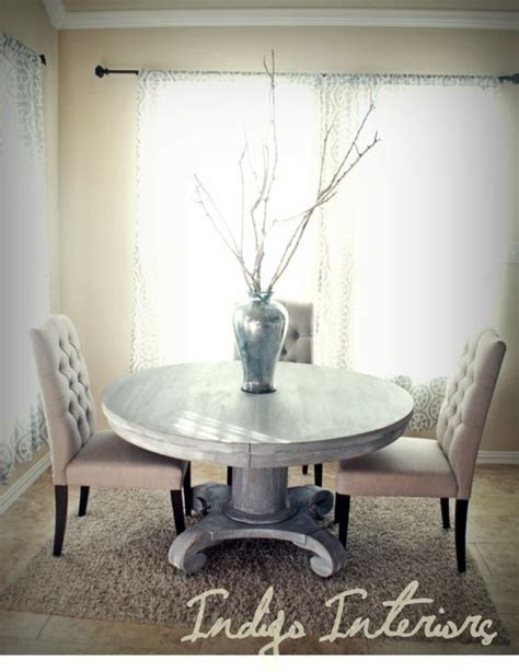white pedestal kitchen table vintage gray and white washed pedestal dining